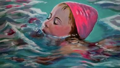 zwemles-in-olieverf